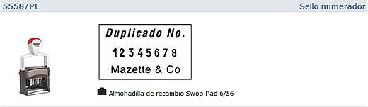 Numerador Trodat 5558PL -