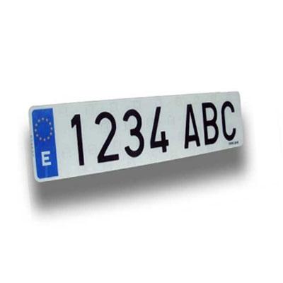 """Matrícula coche acrílica """"ALFA"""" - Matrícula de coche acrílica homologada tipo """"ALFA"""" Medida: 34x11 cm."""