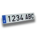 Matrícula coche acrílica - Matrícula de coche acrílica homologada Medida: 52x11 cm.