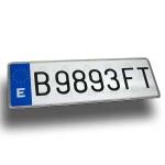 """Matrícula aluminio coche """"ALFA"""" - Matrícula de aluminio tipo """"Alfa"""" homologada edida: 34x11 cm."""