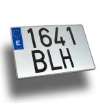 Matrícula aluminio coche cuadrada - Matrícula de coche aluminio cuadrada homologada Medida: 34x22 cm.