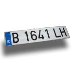 Matrícula aluminio coche - Matrícula coche de aluminio homologada Medida: 52x11 cm.