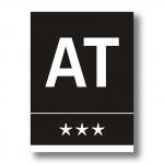 Placa Apartamento Turístico negra - Placa Apartamento Turístico aluminio negro