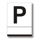 Placa Pensión blanca - Placa Pensión aluminio blanca