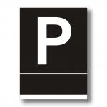 Placa Pensión negra - Placa Pensión aluminio negro