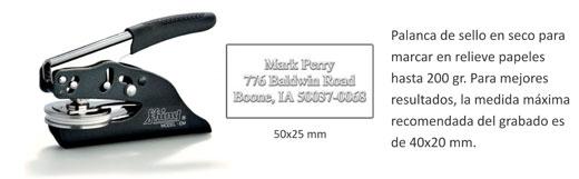 Tenaza sello en seco EM 50x25 mm. -