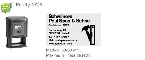Sello caucho Printy 4929 -