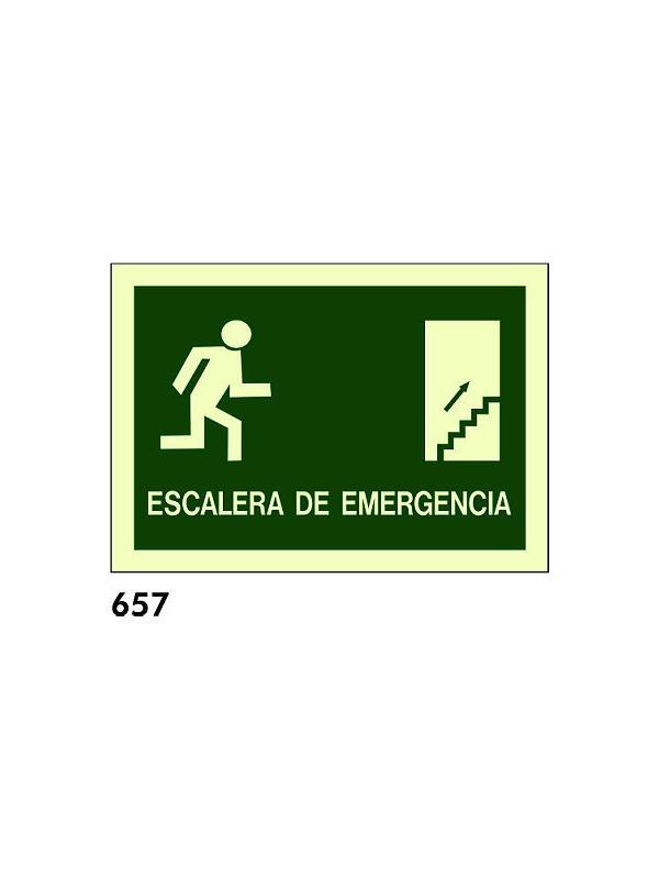 Señal 657 - Fotoluminiscente