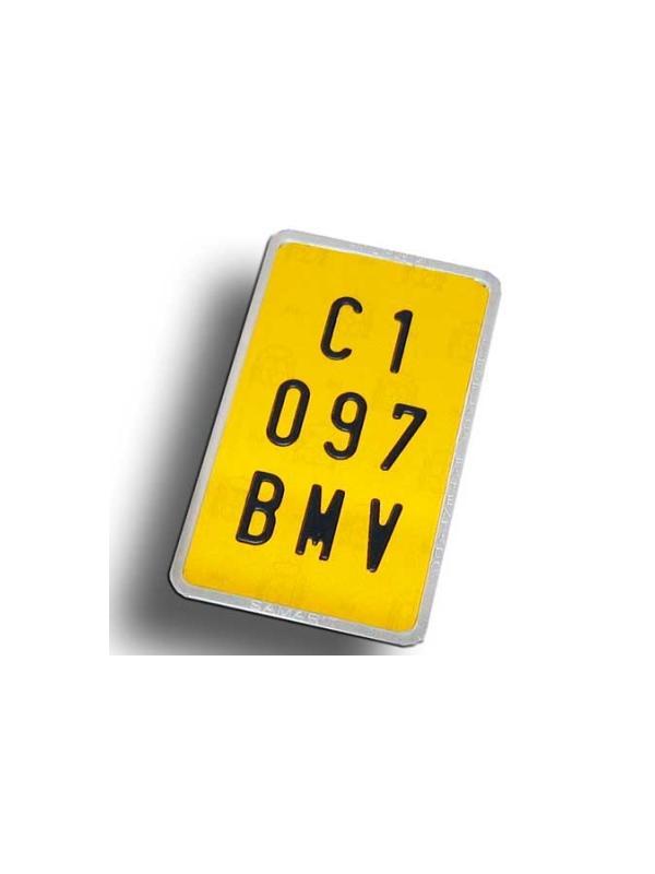 Matrícula ciclomotor - Matrícula de aluminio homologada para ciclomotor Medida: 10x17 cm.