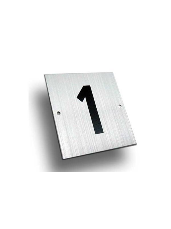 Número aluminio Mod. B