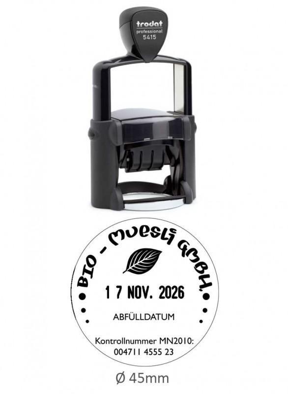 Fechador Trodat 5415 - Medida: 45 mm. diámetro