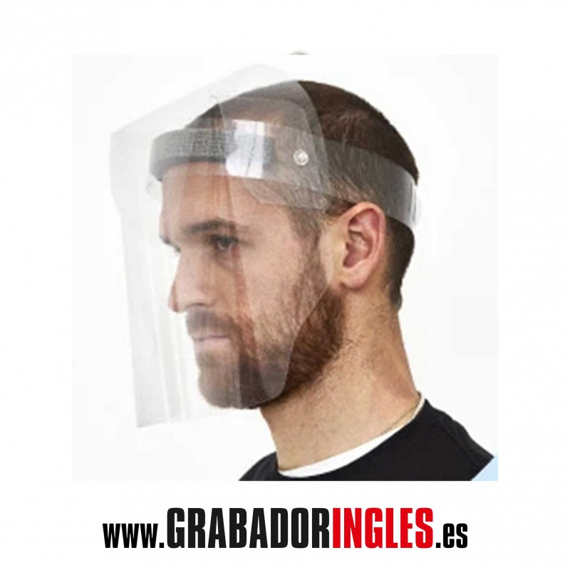 Máscara facial PVC transparente