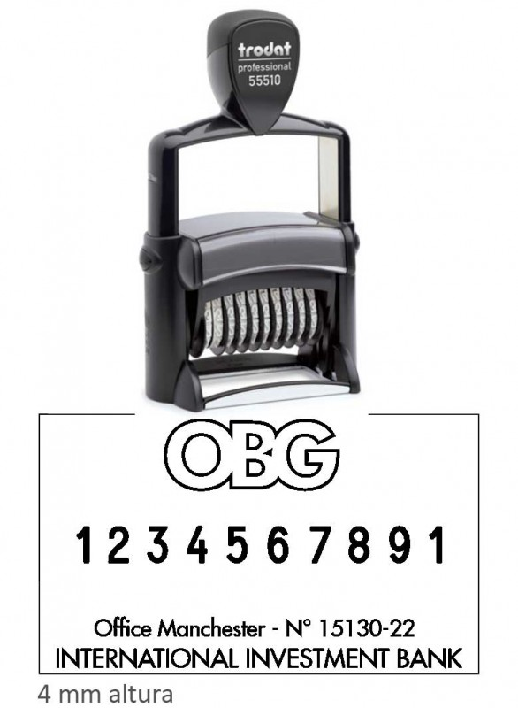 Numerador Trodat 55510PL -