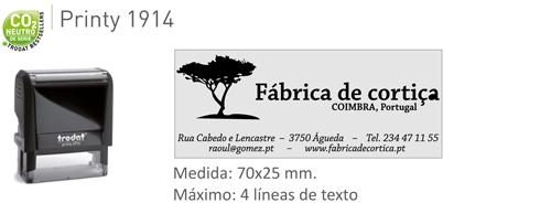 Sello de caucho Printy 4913 58x13 mm. -