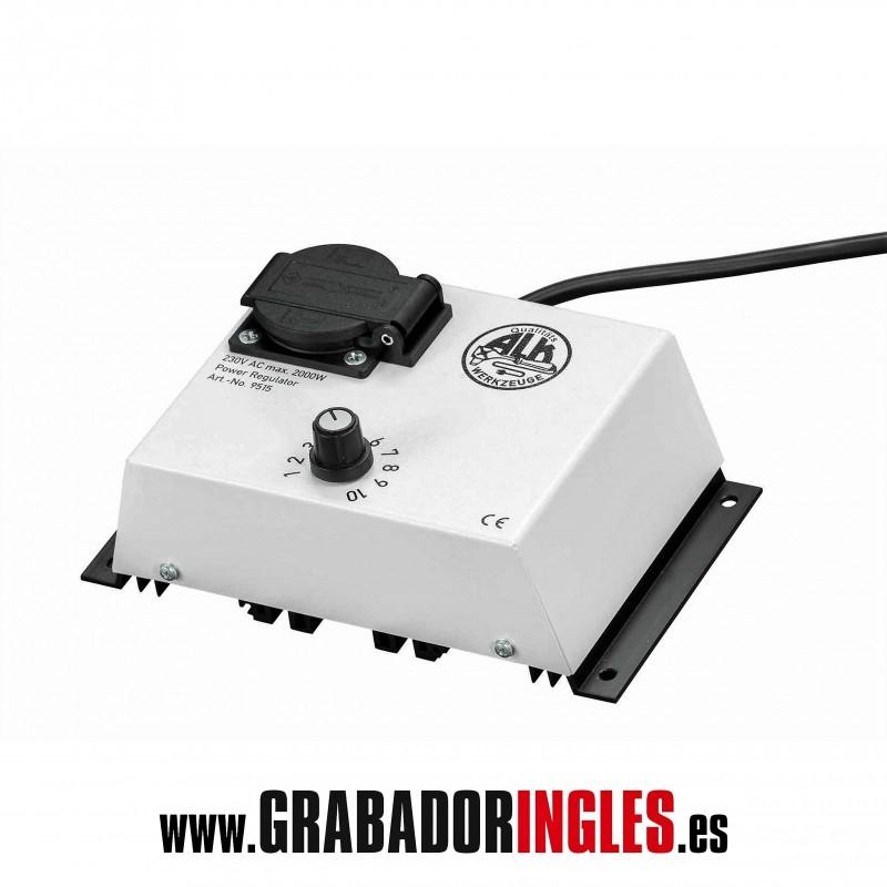 Regulador de potencia para termoregulador hasta 2000W - Regulador de potencia para termograbador de 300W hasta 2000 W. Recomendado para trabajos intensos o en los que sea necesario controlar la temperatura.