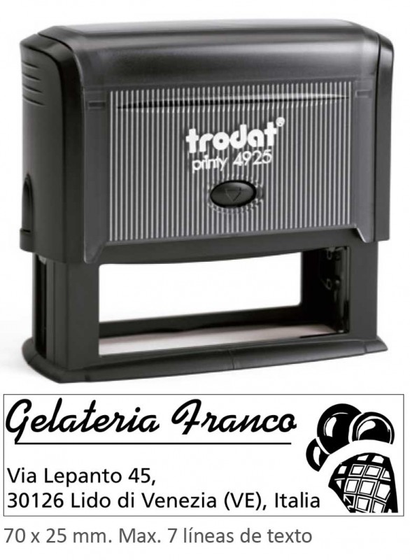 Sello caucho Printy 4925 - Medida: 81 x 24 mm.
