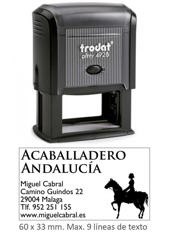 Sello caucho Printy  4928 - Medida: 60 x 33 mm.