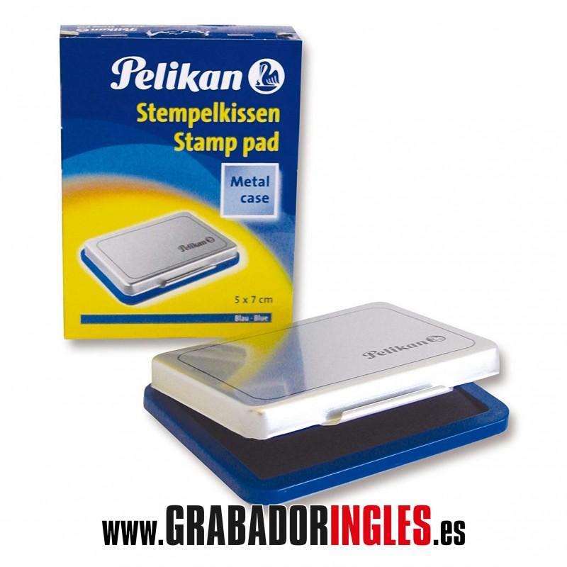 Tampon de tinta Pelikan 7x5 cm. - Tampón de tinta metálico de 7x5 cm. para sellos de caucho. Disponible en negro, azul, rojo, verde y sin tinta.