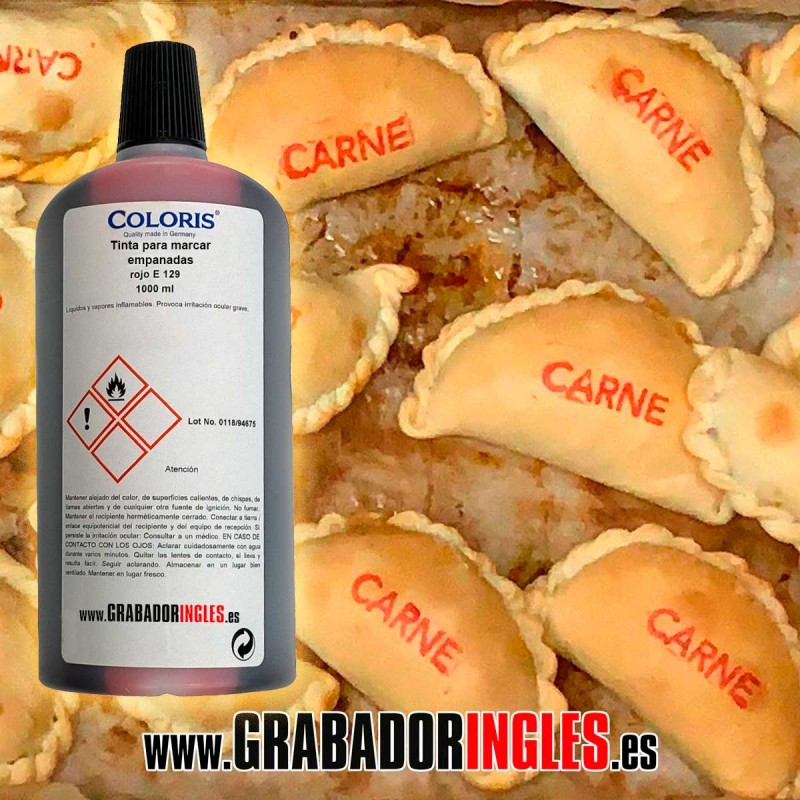 Tinta alimentaria para empanadas