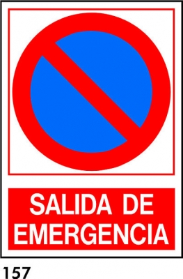 prohibido Inglés salida